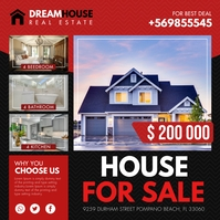 Real Estate House for Sale Ad Instagram Templ