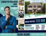 REAL ESTATE HOUSE FOR SALE template Volante (Carta US)