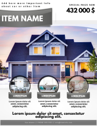real estate house home selling advertising flyer template