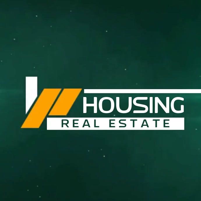 REAL ESTATE HOUSE LOGO SOCIAL MEDIA template