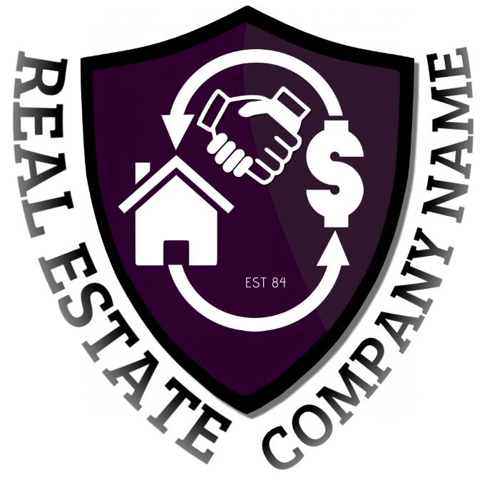 REAL ESTATE HOUSING Logo template