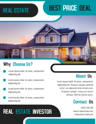 Real Estate Investor Business Flyer Template Design