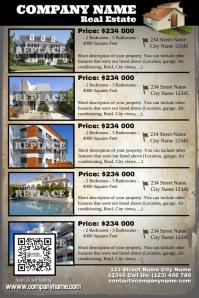 Real estate listing flyer - Vintage style
