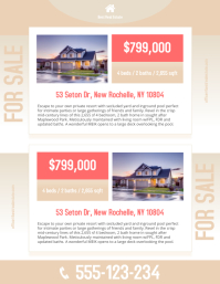 Customizable Design Templates For Estate Broker PosterMyWall - Real estate listing brochure template