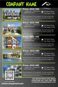 Real estate listing flyer - Modern design