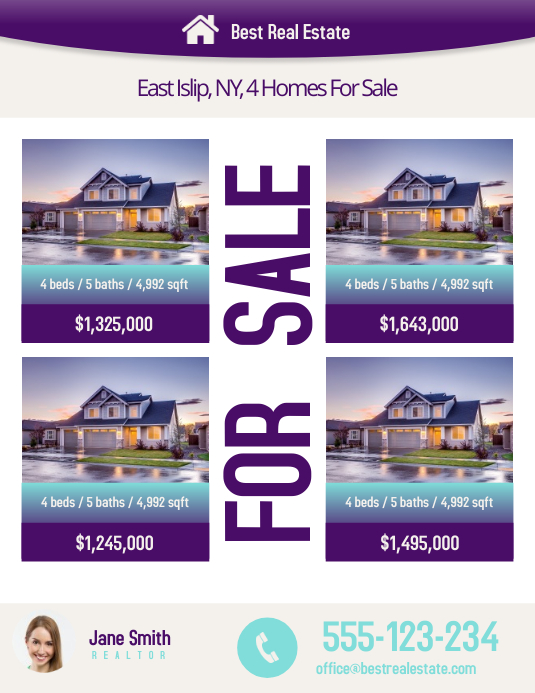 real estate listing template postermywall