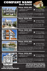 Real Estate Listings Flyer - Wood style ver. 2 Poster template