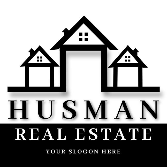 Real Estate LOGO BALCK template