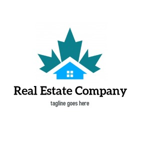 Real Estate logo blue icon template
