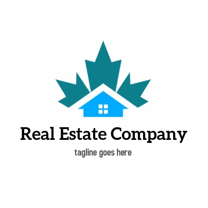 Real Estate logo blue icon