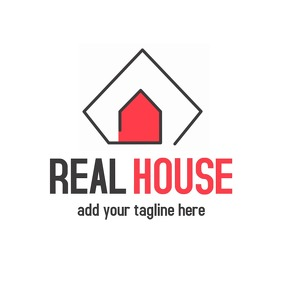 Real estate logo design template