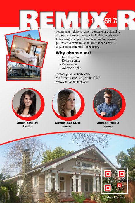 glossy real estate marketing flyer template postermywall
