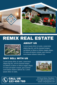Real estate marketing leaflet (2 rows version)