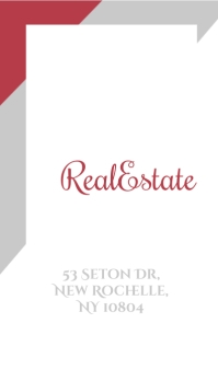 Real Estate Minimal Business Card