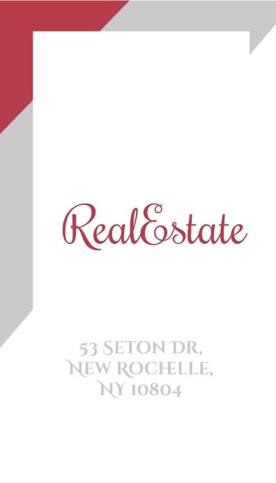 Real Estate Minimal Business Card