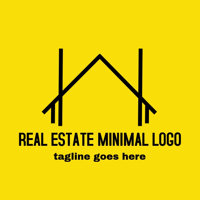 Real estate minimal logo