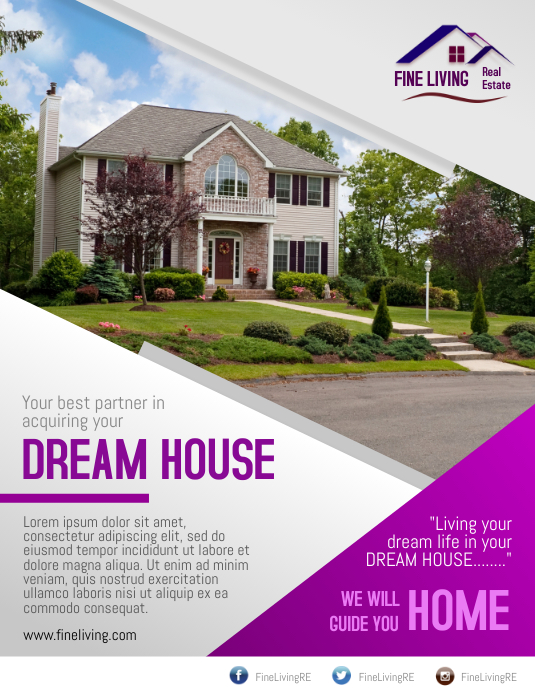 Real Estate Modern Layout Flyer Template