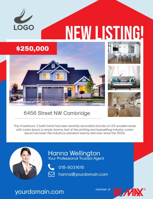 Real Estate New Listing Flyer Poster Promotion