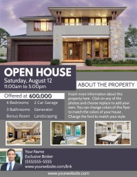 Real Estate Open House Flyer (US Letter) template