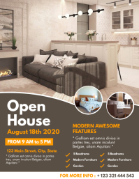 Real estate open house flyer design template