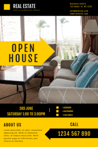 REAL ESTATE OPEN HOUSE FLYER TEMPLATE Plakat
