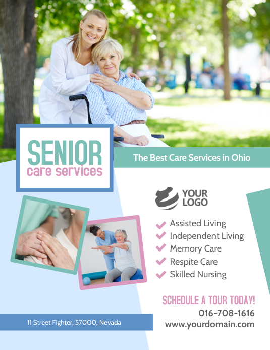 Senior Care Services Template Pamflet (Letter AS)
