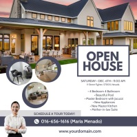 Real Estate Open House Instagram Ad Template