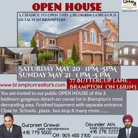 Customizable Design Templates For Open House Event PosterMyWall - Open house ad template