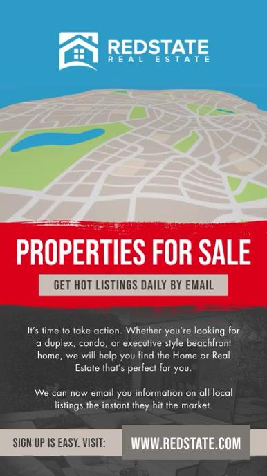 Real Estate Portrait Digital Display Video template