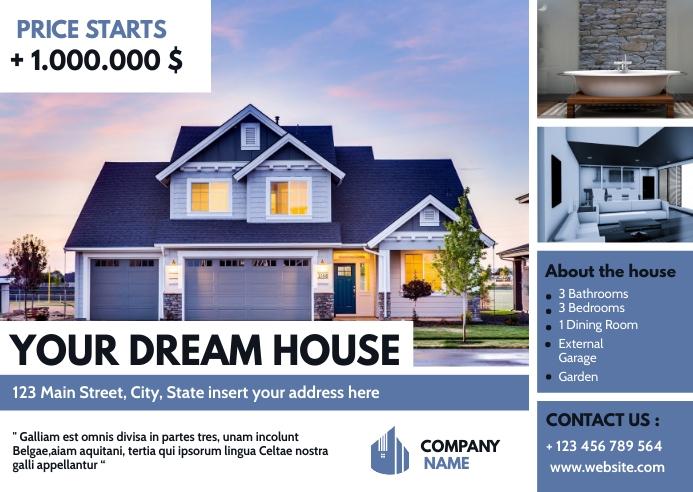 real estate postcard advertisement Briefkaart template