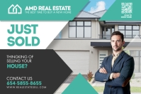 Real Estate Postcard Label template