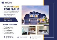Real Estate Postcard Открытка template