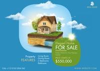 Real Estate Postcard Cartolina template