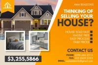 Real Estate Postcard Etichetta template