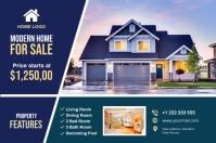 Real Estate Postcard Banner 4' × 6' template