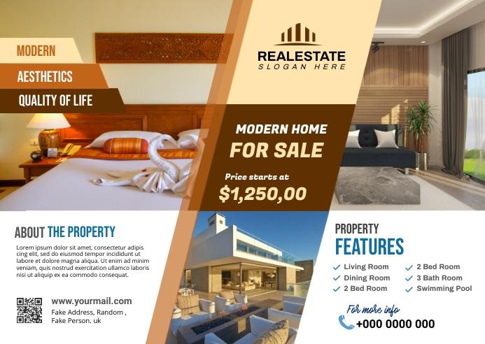 Real Estate Postcard 明信片 template