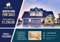 Real Estate Postcard Postkort template