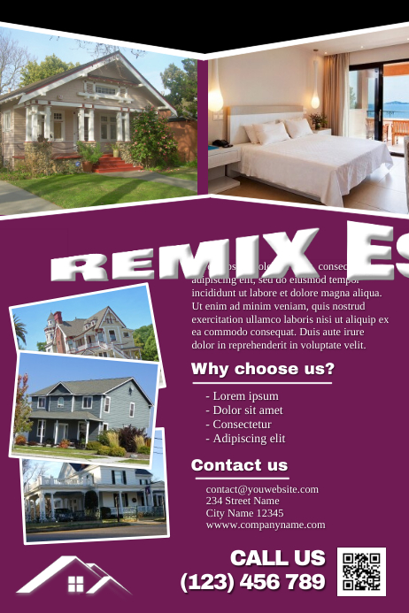 Fully customizable real estate brochure