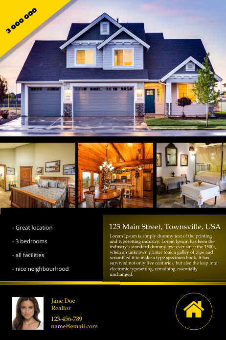 real estate flyer template postermywall