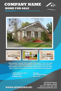 Real estate poster template - Creative design