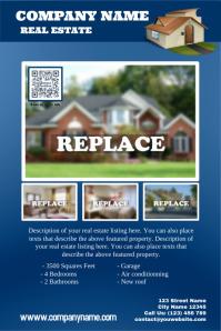 Blue real estate poster