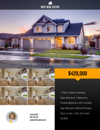 Real Estate Flyer Templates PosterMyWall - Just listed flyer template