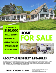 Real Estate Flyer Template  House Sale Flyer