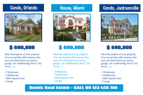 White real estate trifold