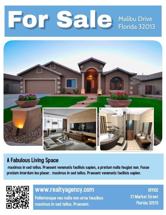 Real Estate House for Sale Flyer Template