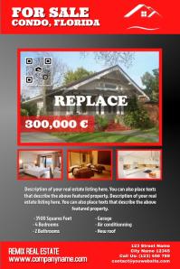 Dark colored real estate poster - Red & Black