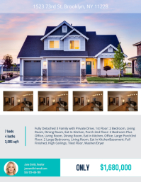 view template - Free Open House Flyer Template