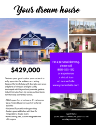 Real Estate Flyer Pamflet (Letter AS) template