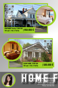Real estate poster with big photos