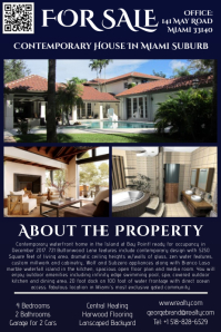 Real Estate Flyer House For Sale Poster Template